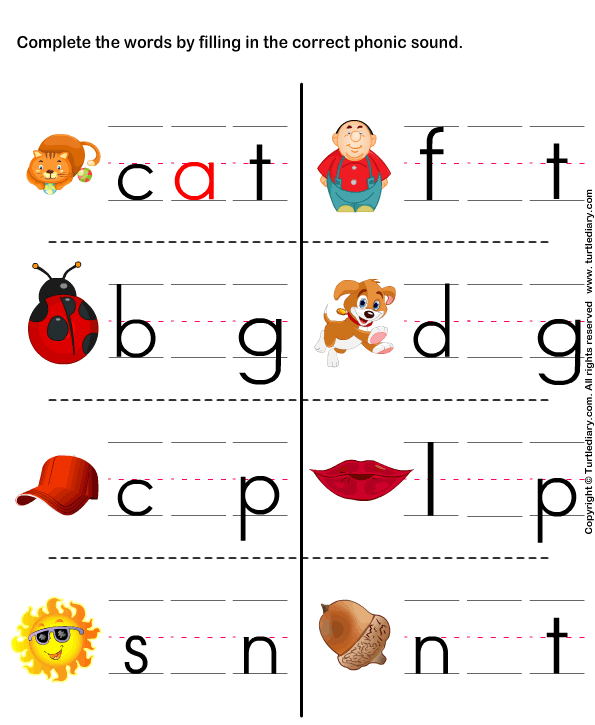 Preschool Phonics Worksheets : Kids page